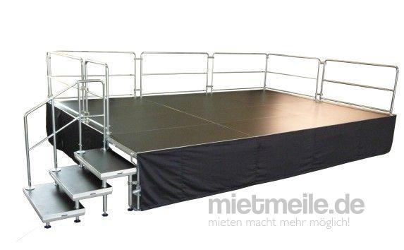 Bühne mieten & vermieten - 4 x 3m Bühne - Podesterie - Podeste inkl. Treppe Showbühne in Wismar