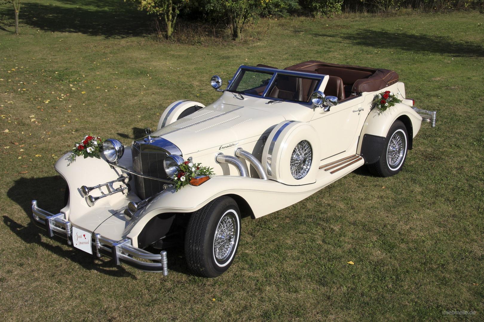 Hochzeitsauto mieten & vermieten - Hochzeitsauto Oldtimer Excalibur Phaeton Serie 5 mit Chauffeur in Winnenden