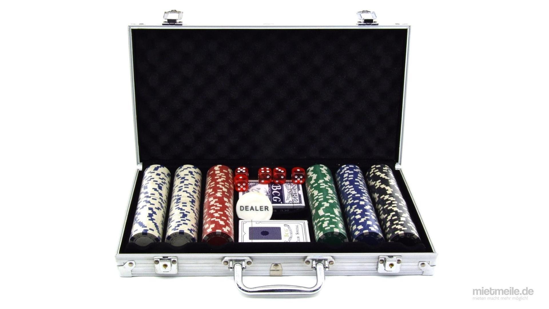 Gewinnspiele mieten & vermieten - Poker-Set Pokerkoffer Poker-Chips Spielkarten in Schkeuditz