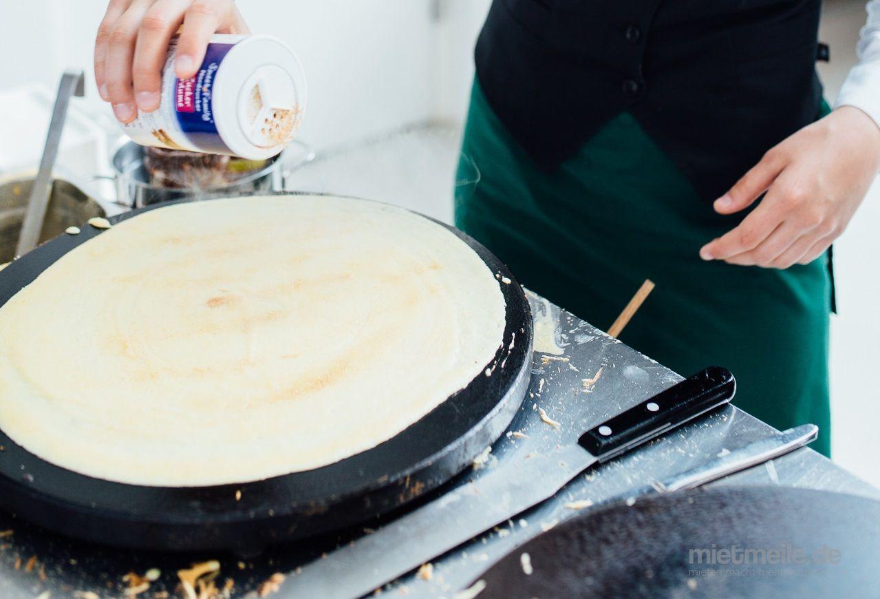 Catering mieten & vermieten - Crêpeseisen doppelt - französische Crêpes selbst gemacht in Bergheim