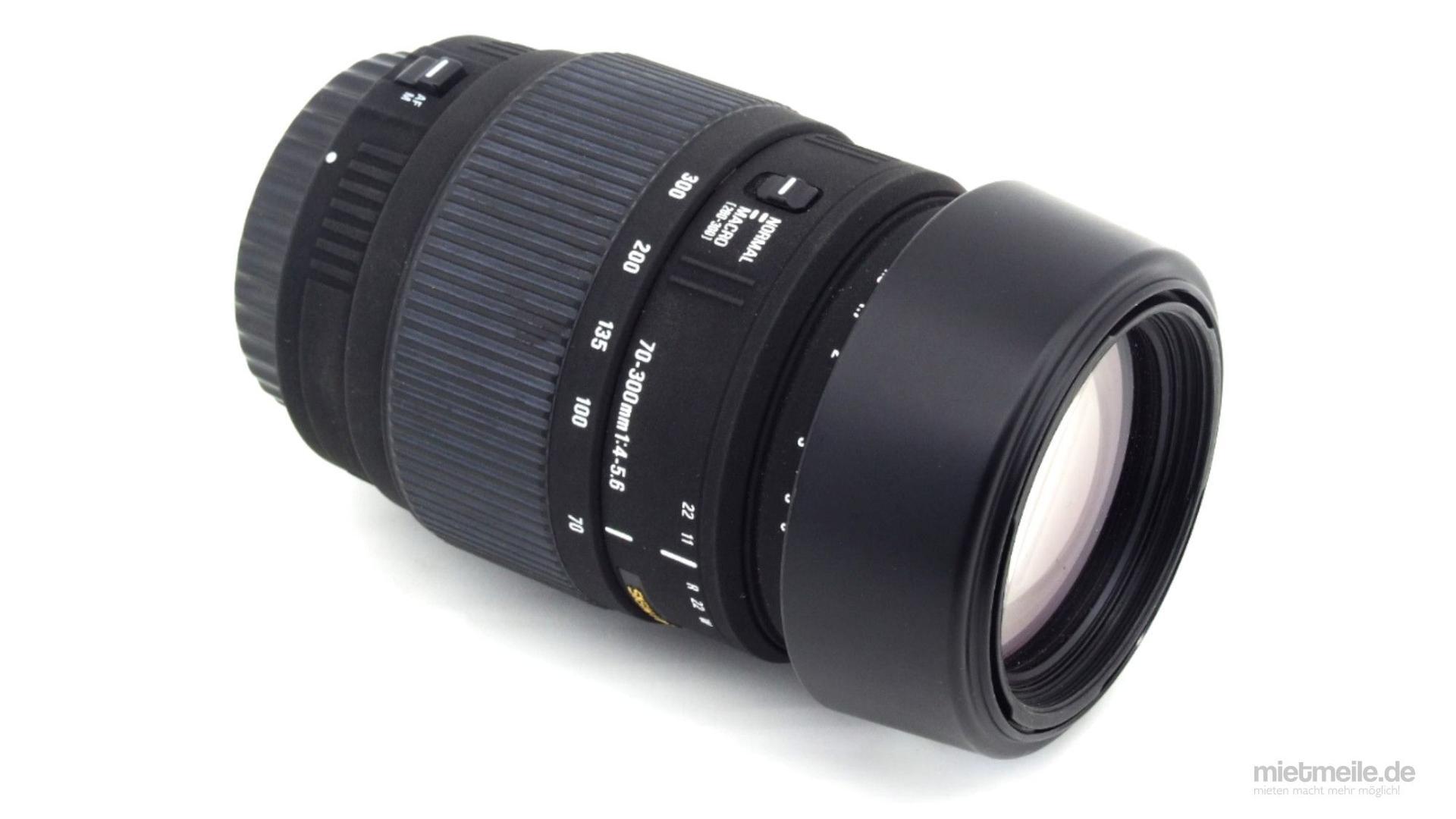 Objektive mieten & vermieten - Tele-Objektiv Makro Sigma 70-300mm F/4-5,6 Canon EF in Schkeuditz