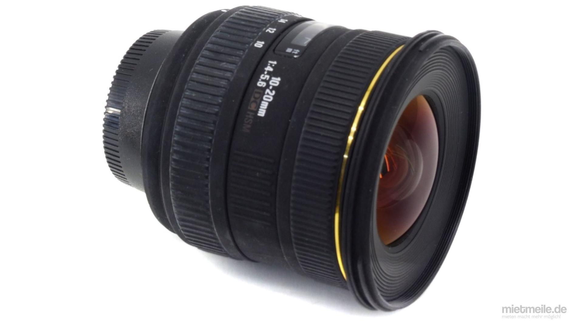 Objektive mieten & vermieten - Weitwinkel-Objektiv Sigma 10-20mm F/4-5,6 HSM Canon in Schkeuditz