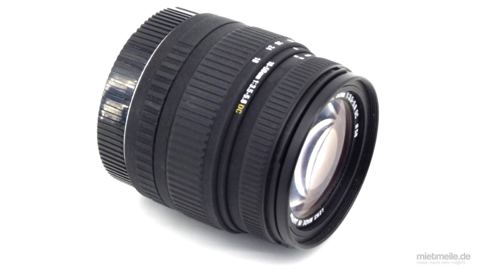 Objektive mieten & vermieten - Objektiv Sigma 18-50mm F/3,5-5,6 Canon Infrarot in Schkeuditz