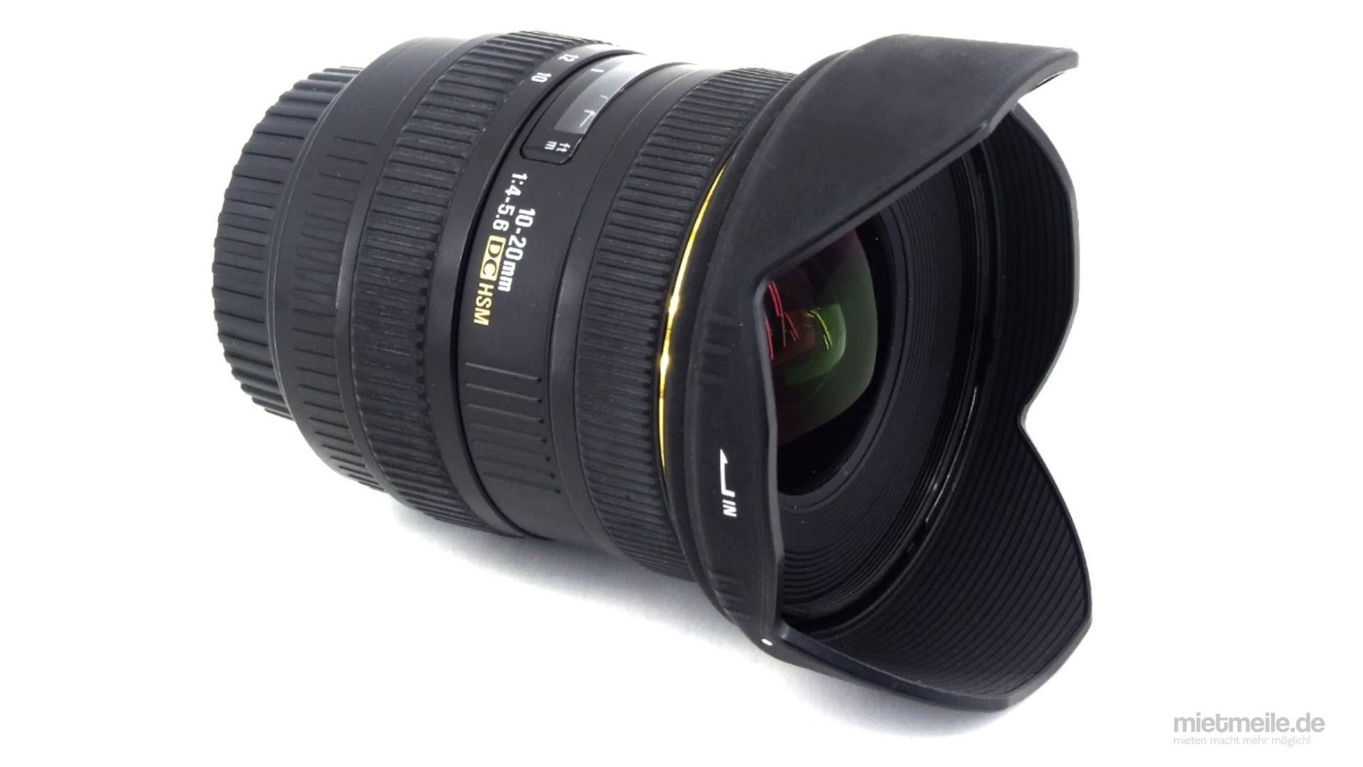 Objektive mieten & vermieten - Weitwinkel-Objektiv Sigma 10-20mm F/4-5,6 Nikon HSM in Schkeuditz