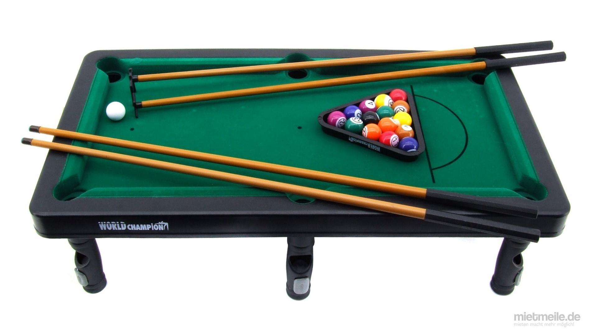 Billardtisch mieten & vermieten - Mini Billardtisch Snooker Pool Billard in Schkeuditz