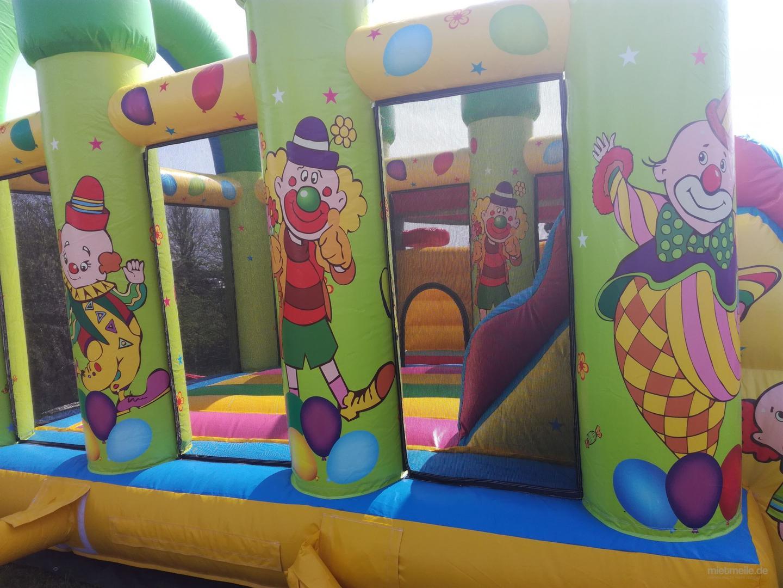 Hüpfburg mieten & vermieten - Profi Hüpfburg Clown Multiplay Center für 1 Tag mieten  in Großholbach