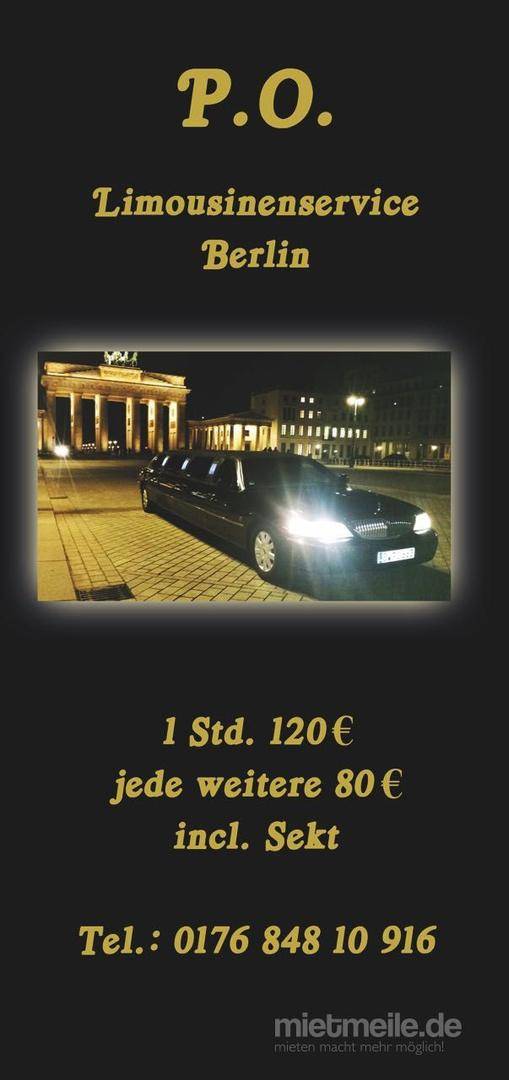 Limousinen mieten & vermieten - P.O Limosinenservice in Berlin