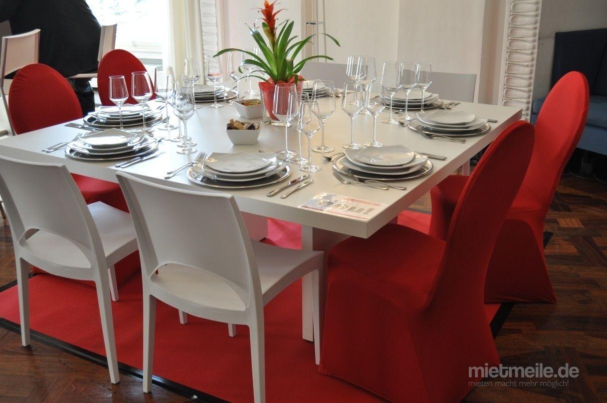 "Stühle mieten & vermieten - Designstuhl ""Majestic"" Kunststoff , Stapelstuhl (Farben: weiss/apfelgrün) in Kaarst"