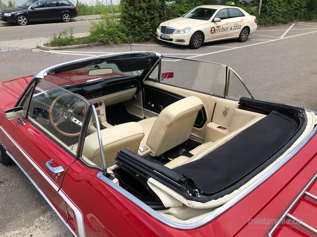 Hochzeitsauto mieten & vermieten - Mustang Cabrio Bj. 68, Hochzeitsauto, Chauffeur/-in, Oldtimer in Freiburg im Breisgau