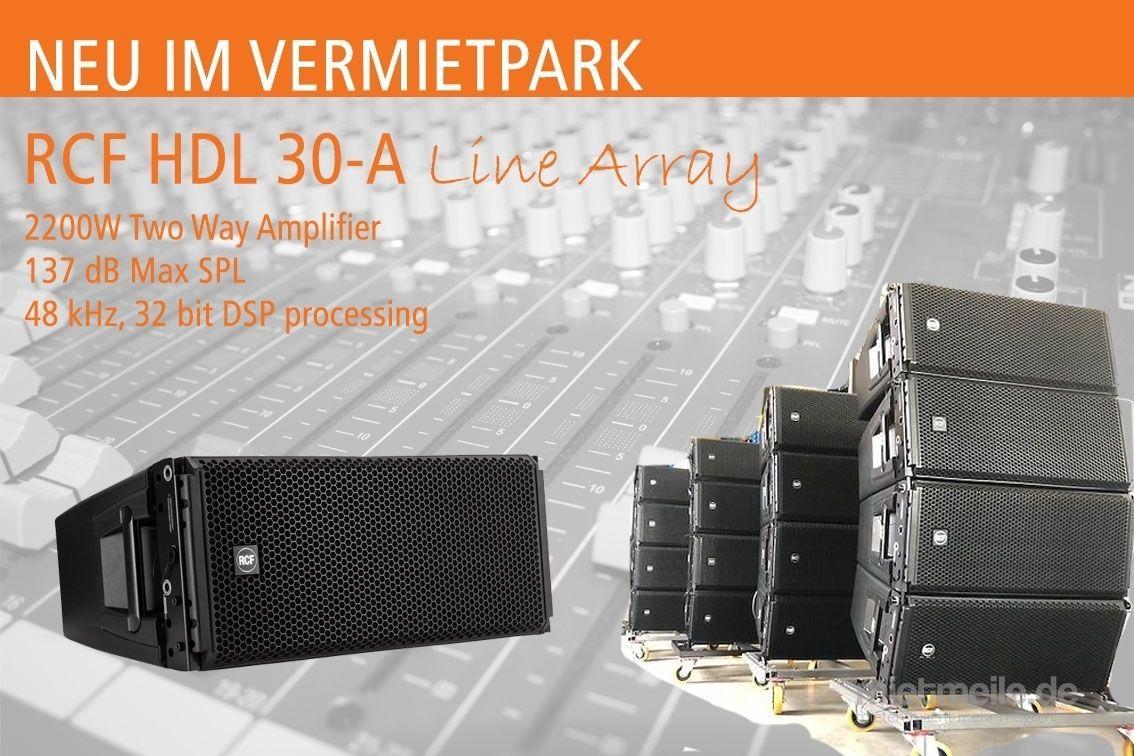 Tontechnik mieten & vermieten - RCF HDL30-A Line Array mieten in Neuenkirchen