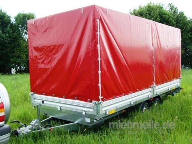 Planenanhänger mieten & vermieten - AXA 5 x 2,13 m Planenanhänger Hochlader 3500 kg gebremst doppelachser – 100 km/h in Elsdorf (Rheinland)