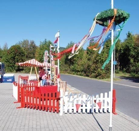 Saisonale Dekoration mieten & vermieten - Oktoberfestkranz inkl. Mast inkl.19%MwSt. in Münnerstadt
