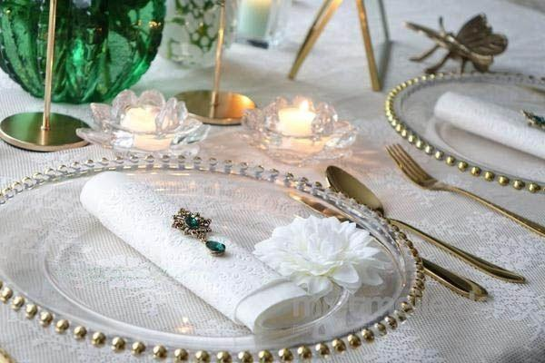 Tischdekoration mieten & vermieten - Goldenes Besteck Gold, Rosegold Hochzeit Bielefeld, Hannover Event Düsseldorf, Oberhausen in Bielefeld