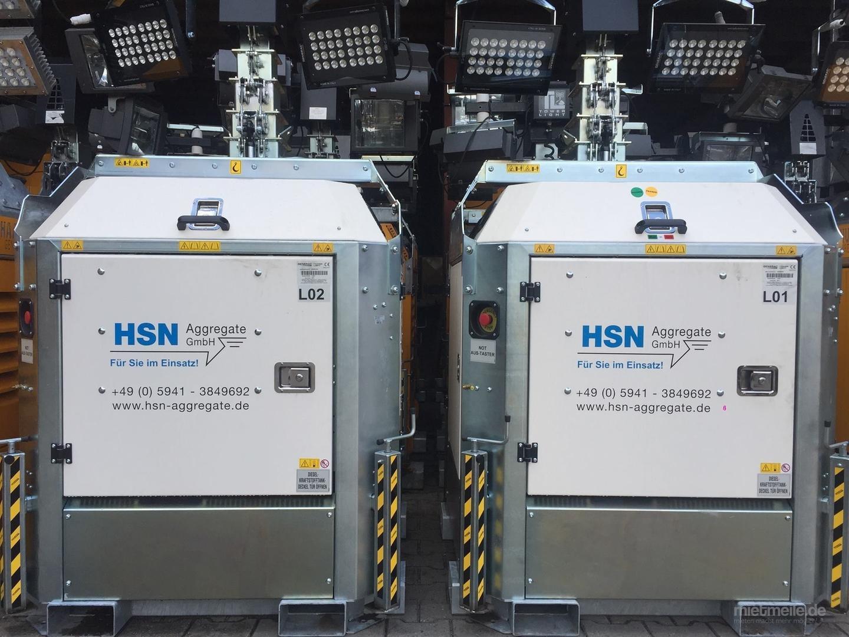 Stromgenerator mieten & vermieten - autarker Lichtmast 4x320W LED mit Dieselaggregat in Neuenhaus