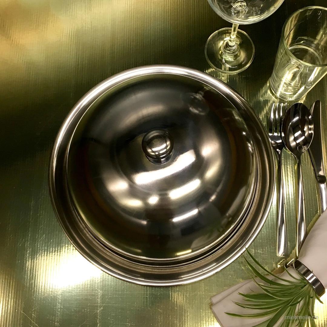 Tischzubehör mieten & vermieten - Speiseglocke / Servierhaube / Cloche - mit Unterteller in Berlin