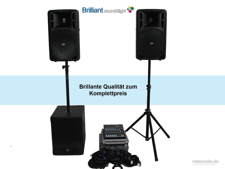 Musikanlage mieten & vermieten - Komplette Profi PA-Anlage / Musikanlage / Beschallungsanlage / Tonanlage / Lautsprecher in Langenhagen