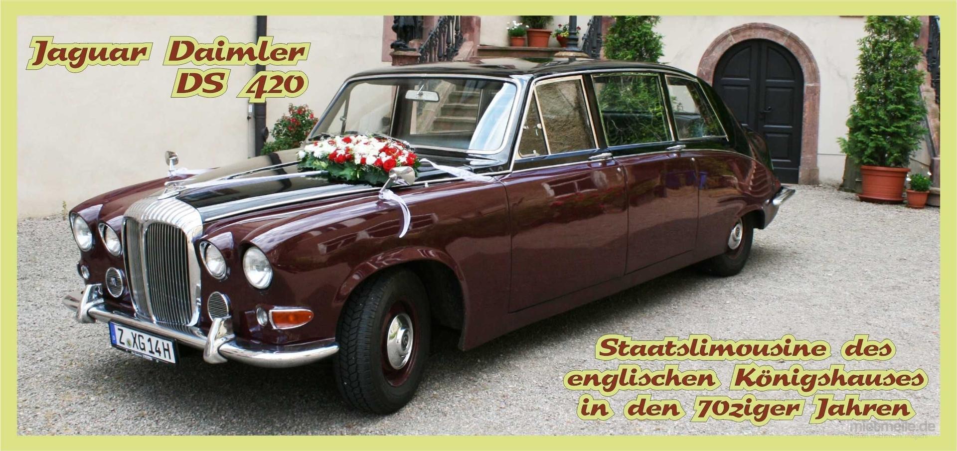 Oldtimer mieten & vermieten - Jaguar Daimler DS 42 / Englische Staatslimousine  in Limbach-Oberfrohna