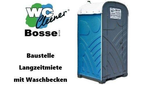 Toilettenkabine mieten & vermieten - WC-Kabine, mobile Toilette mit Waschbecken, Baustellenklo in Oerlinghausen