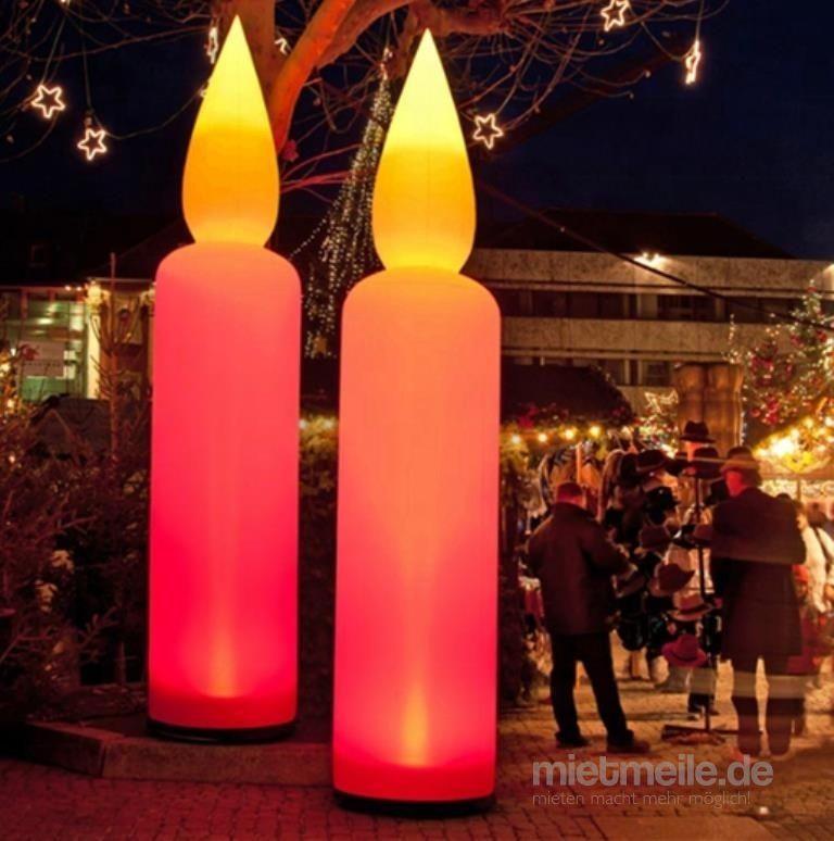 Aufblasbare Dekoration mieten & vermieten - aufblasbare Kerzen 2,50m bzw. 5,00m hoch ! in Kaltenkirchen