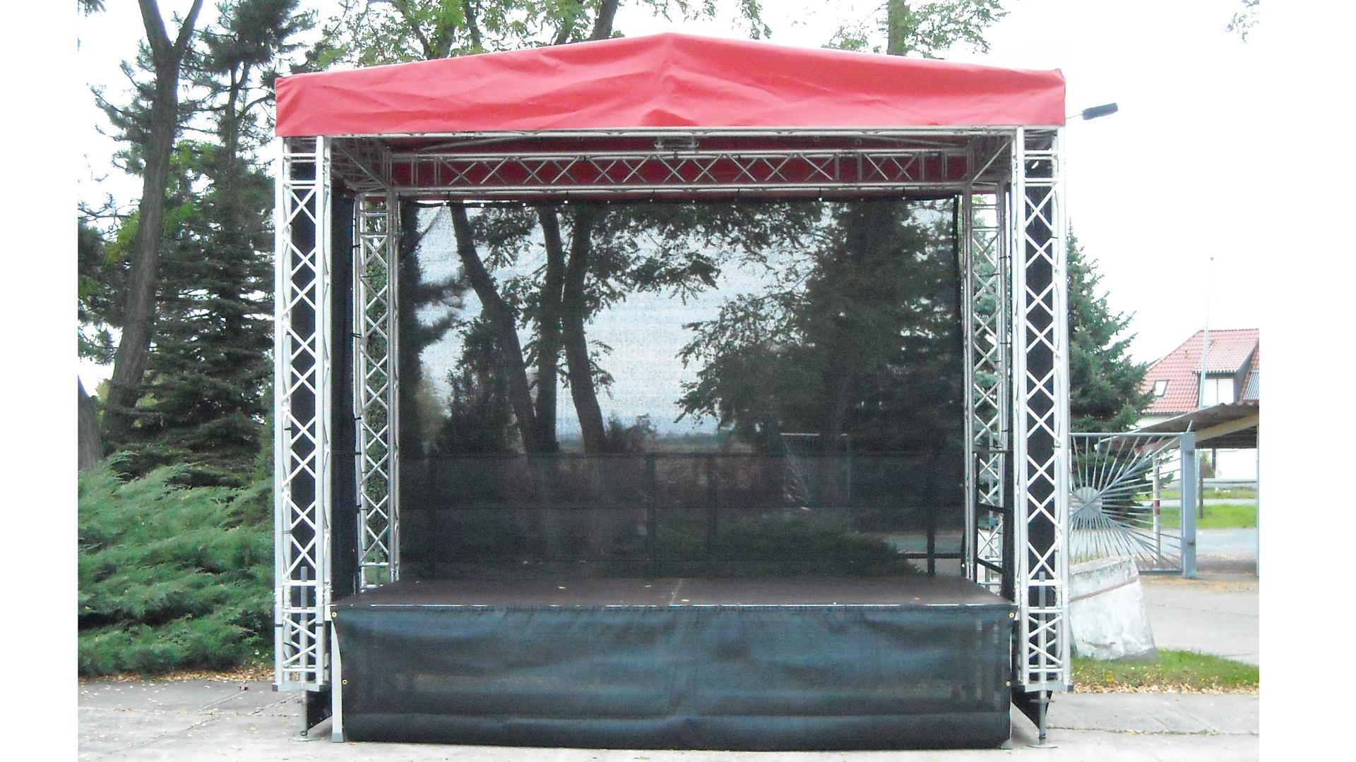 Bühne mieten & vermieten - Bühne mit Sattel Dach 4x3 - 12m² für kleine Stadtfest, Präsentation, Events etc. in Nürnberg