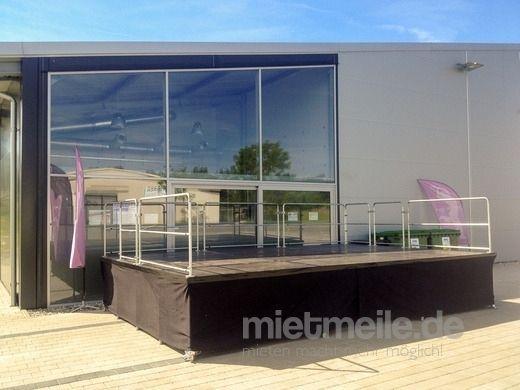 Bühne mieten & vermieten - Bühne 6x4 m Nivtec-System mit Geländern in Hilzingen