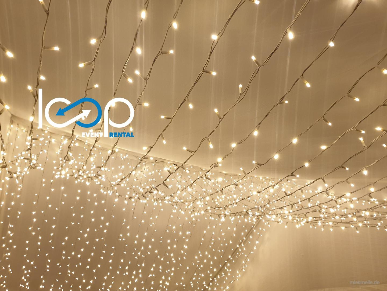 Leuchten & Lampen mieten & vermieten - LED PRO-system CURTAIN // Vorhang // erweiterbar // Deko // Gartenbeleuchtung // Weihnachtsbeleuchtung // Party // Hochzeit in Siegelsbach