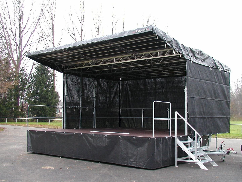 Bühne mieten & vermieten - Mobile Bühne 6,8m x 6,3m (42m²) - Stagemobil Trailerbühne in Heilbronn