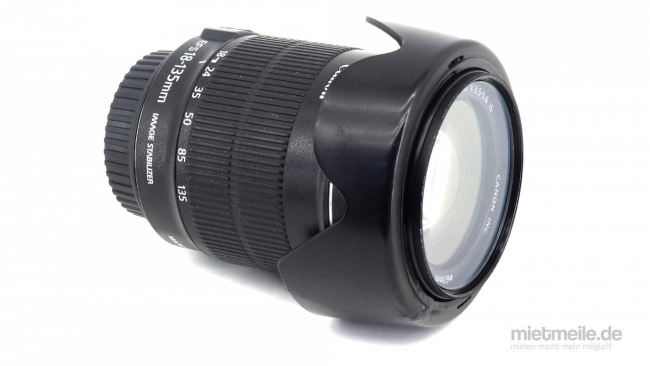 Objektive mieten & vermieten - Zoomobjektiv Canon EF-S 18-135mm f/3.5-5.6 IS in Schkeuditz