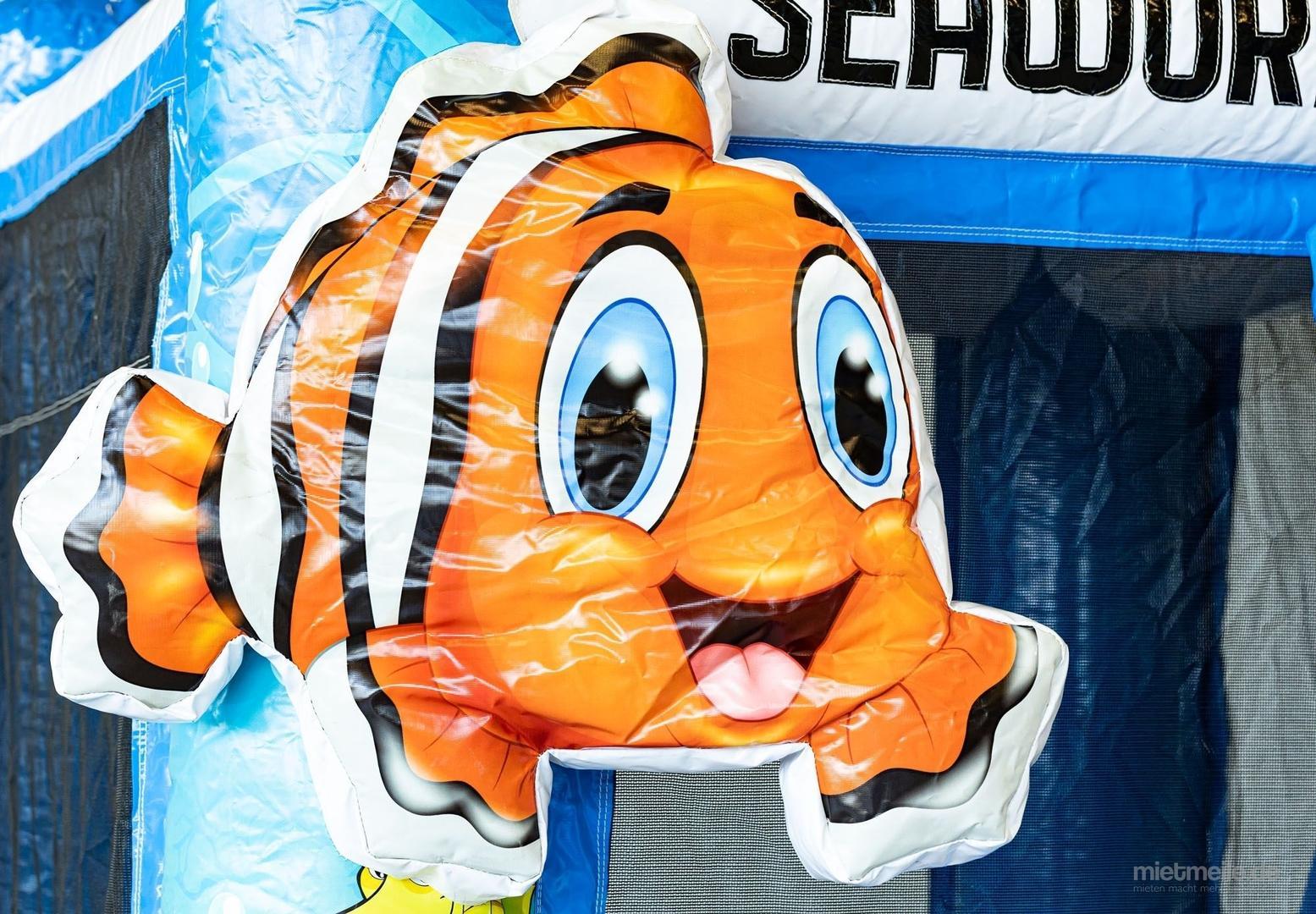 Hüpfburg mieten & vermieten - Hüpfburg Mini mit Rutsche Seaworld in Ludwigshafen am Rhein