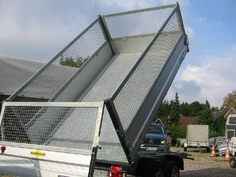 Kippanhänger mieten & vermieten - Nr. 85 - 89 Rückwärtskipper mit Gitteraufsatz in Altenholz