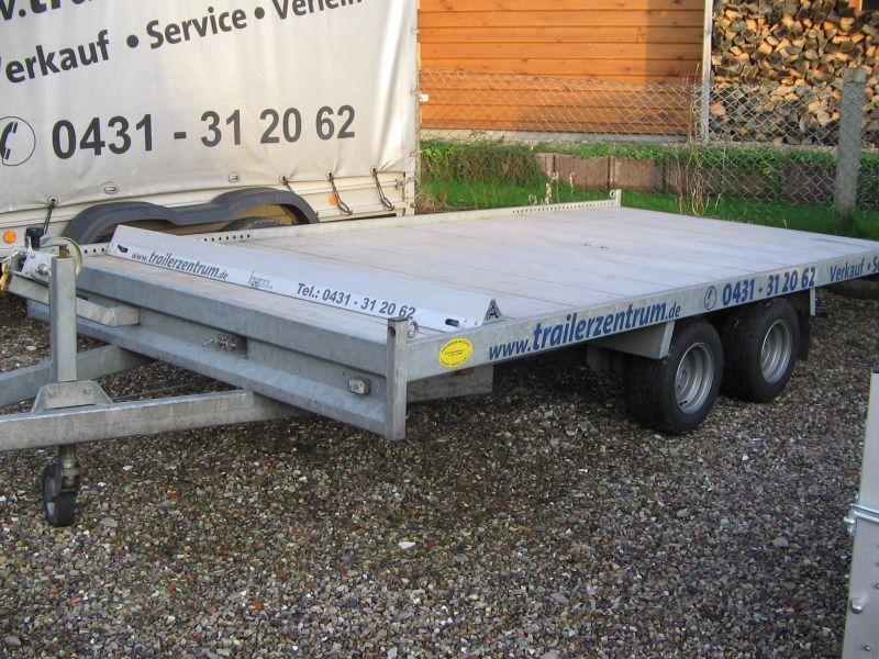 Baumaschinenanhänger mieten & vermieten - Nr. 50 - 54 / Plattformanhänger in Altenholz