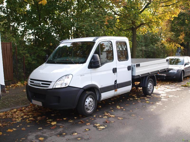 transporter lkw 6 sitzer doka pritsche iveco daily berlin umzugswagen m belwagen. Black Bedroom Furniture Sets. Home Design Ideas