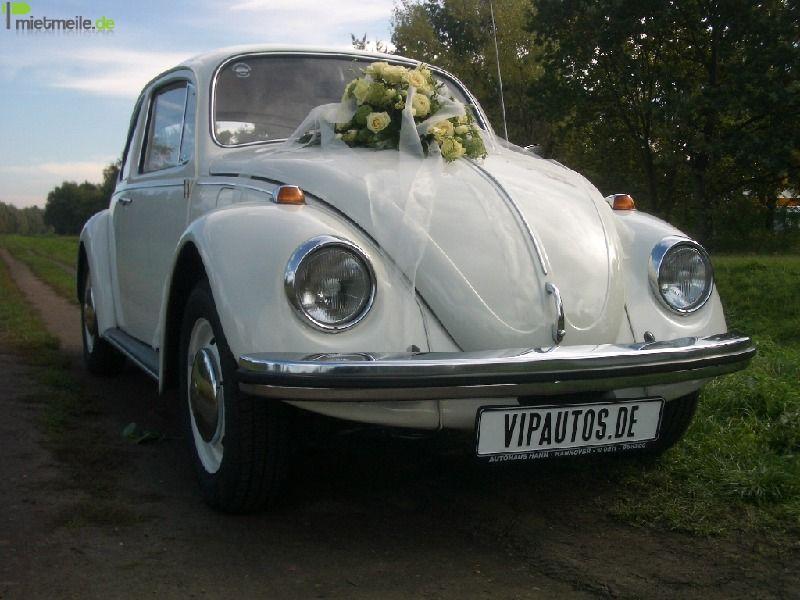 Oldtimer mieten & vermieten - VW Käfer 1300 in weiß - Oldtimer und Hochzeitsauto in Hannover
