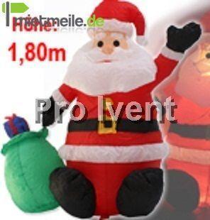 Weihnachtsdekoration mieten & vermieten - Weihnachtsmann aufblasbar, beleuchtet 180 cm groß in Herdecke