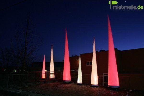 Leuchten & Lampen mieten & vermieten - Aircones mit LED 3,5m  ***div. Größen*** ANGEBOT  in Rastatt