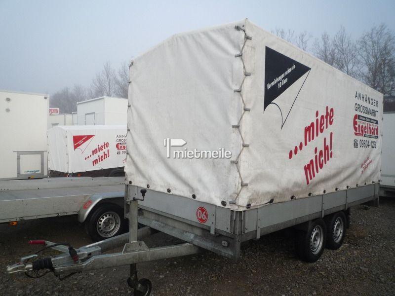 Planenanhänger mieten & vermieten - Nr.06 Planenanhänger 405x178x180 cm 2000 kg in Aurach