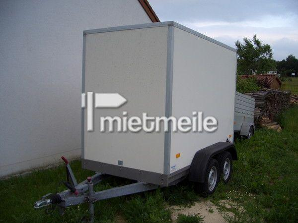Kofferanhänger mieten & vermieten - Anhänger geschlossener Kasten Humbaur 1,6 to. in Bayreuth