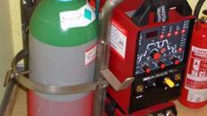 Transportwagen VA für 1 x 20 Liter Gasbehälter und Schweißanlage / Geräte / Transport / Werkzeuge