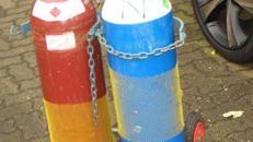 Flaschenwagen 2x20L Gasflaschen Transportwagen