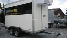 Kühlkoffer 3,60m +2°C / 220Volt, abschließbar