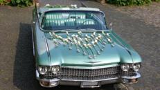 Cadillac Heckflossen-Cabriolet, 1960, mintgrünmet.