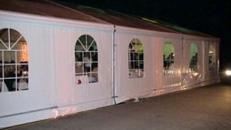 Partyzelt, Vip-Zelt, Festzelt, Festhalle, weiß.