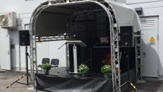 """Mobile Bühne und Bühnentechnik, Veranstaltungsbühne, Bühnendach """"Mini Stage"""" 3,00 x 3,50 m"""