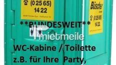 WC mieten, Toilette, Klo, Toilettenkabine, 1 Preis