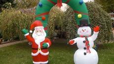 """Vermietung Zielbögen - """"Eingangsbogen Weihnachten"""""""
