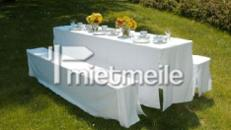 Festzeltgarnitur / Bierbank, Tisch 70cm breite