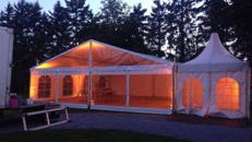 Festzelt Partyzelt 10x25 Meter mit Holzfussboden