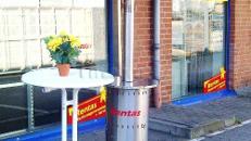 Terrassenstrahler, Heizpilz, Gas, 14 kW
