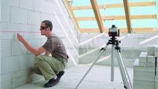Rotationslaser / Laser mit Stativ und Empfänger
