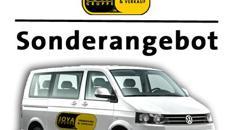 9 sitzer *CITY TARIF* inkl. 100Frei/km VW T5